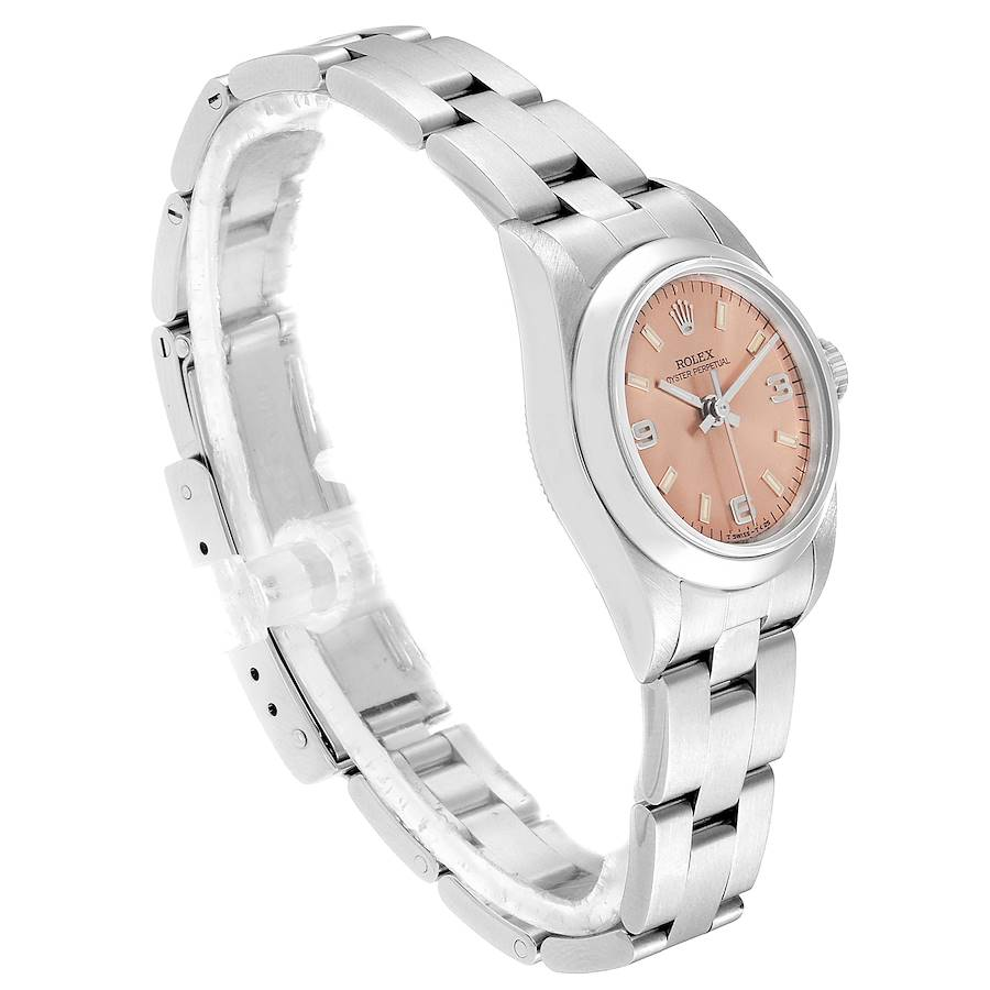 Rolex Oyster Perpetual 24 Salmon Dial Ladies Watch 76080 Box SwissWatchExpo