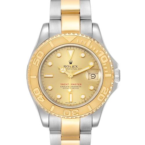 Photo of Rolex Yachtmaster 35 Midsize Steel Yellow Gold Unisex Watch 68623 Box Papers