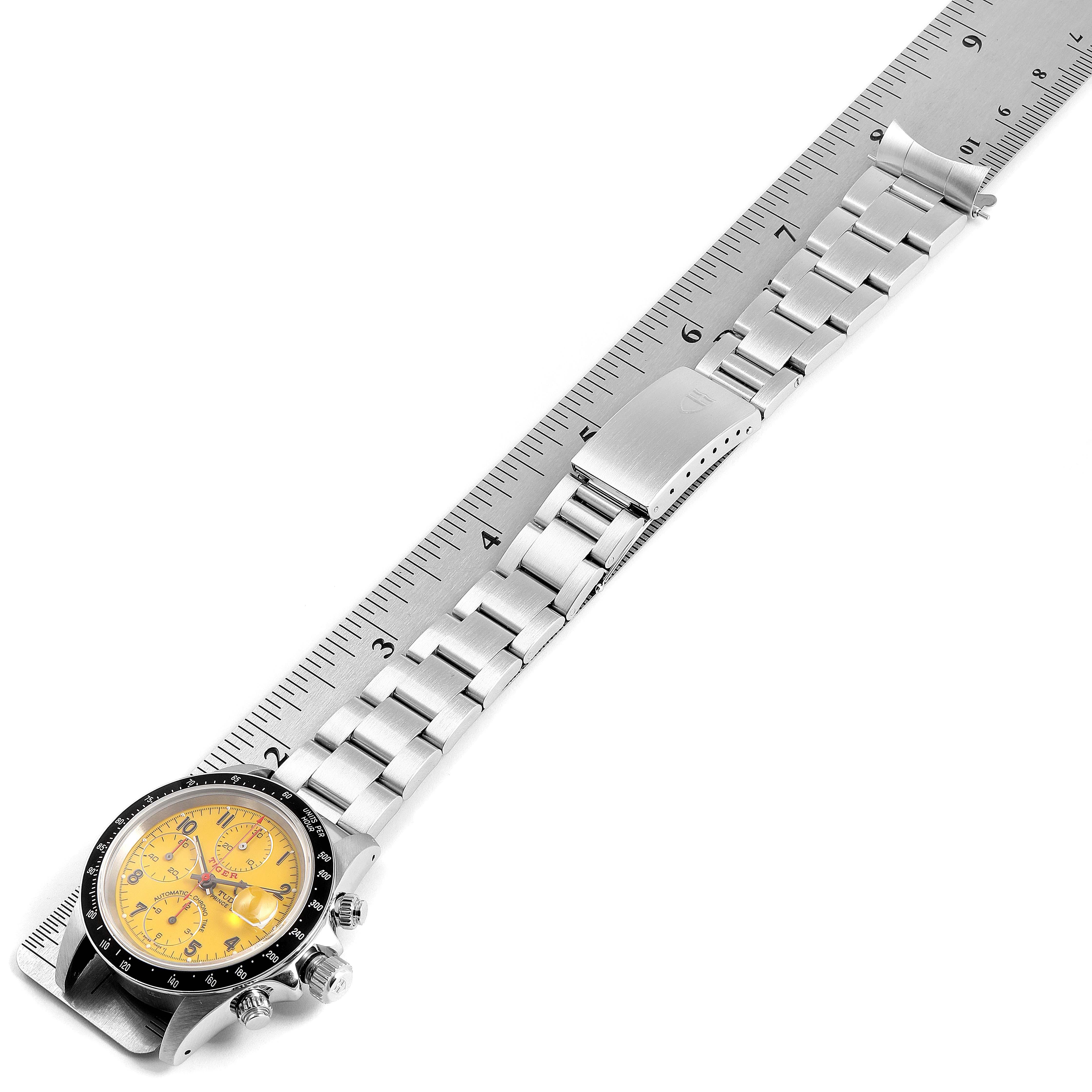 Tudor Tiger Woods Prince Chronograph Yellow Dial Mens Watch 79260 SwissWatchExpo