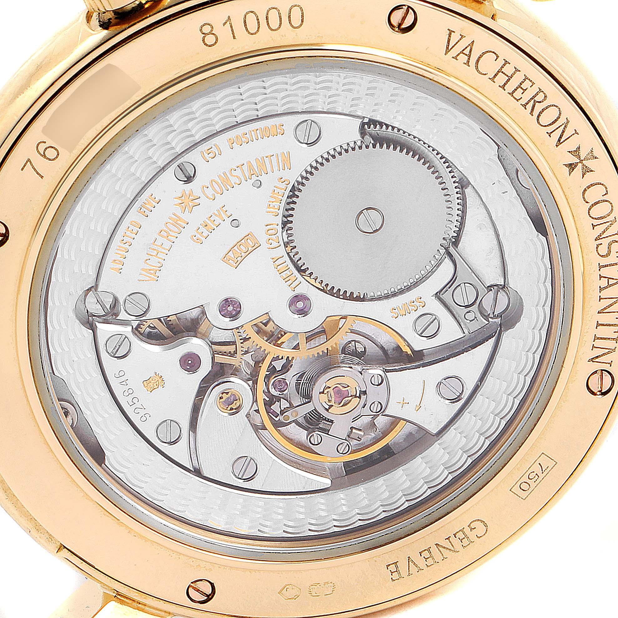 Vacheron Constantin Malte Grande Classique Yellow Gold Mens Watch 81000 SwissWatchExpo