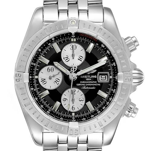 Photo of Breitling Chronomat Evolution Steel Black Dial Steel Mens Watch A13356