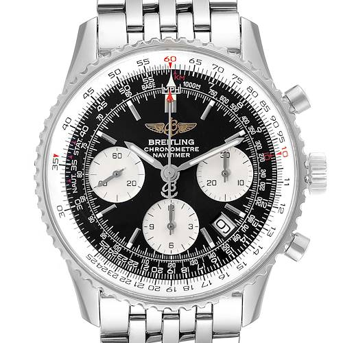Photo of Breitling Navitimer Black Dial Chronograph Steel Mens Watch A23322 Box