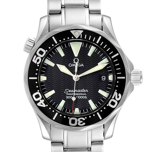 Photo of Omega Seamaster James Bond 36 Midsize Black Wave Dial Watch 2262.50.00