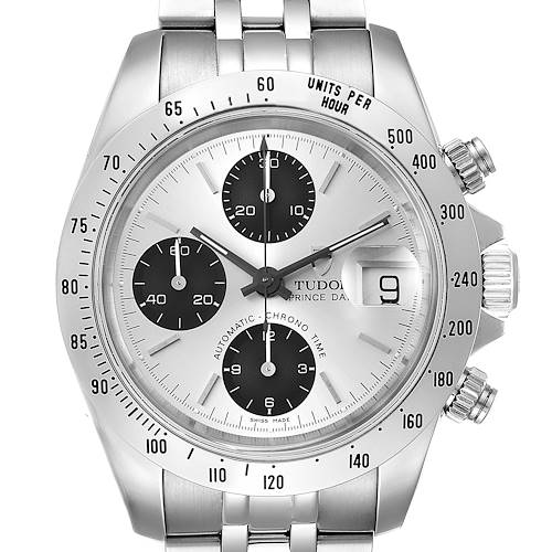 Photo of Tudor Prince Silver Dial Chronograph Steel Mens Watch 79280 Papers