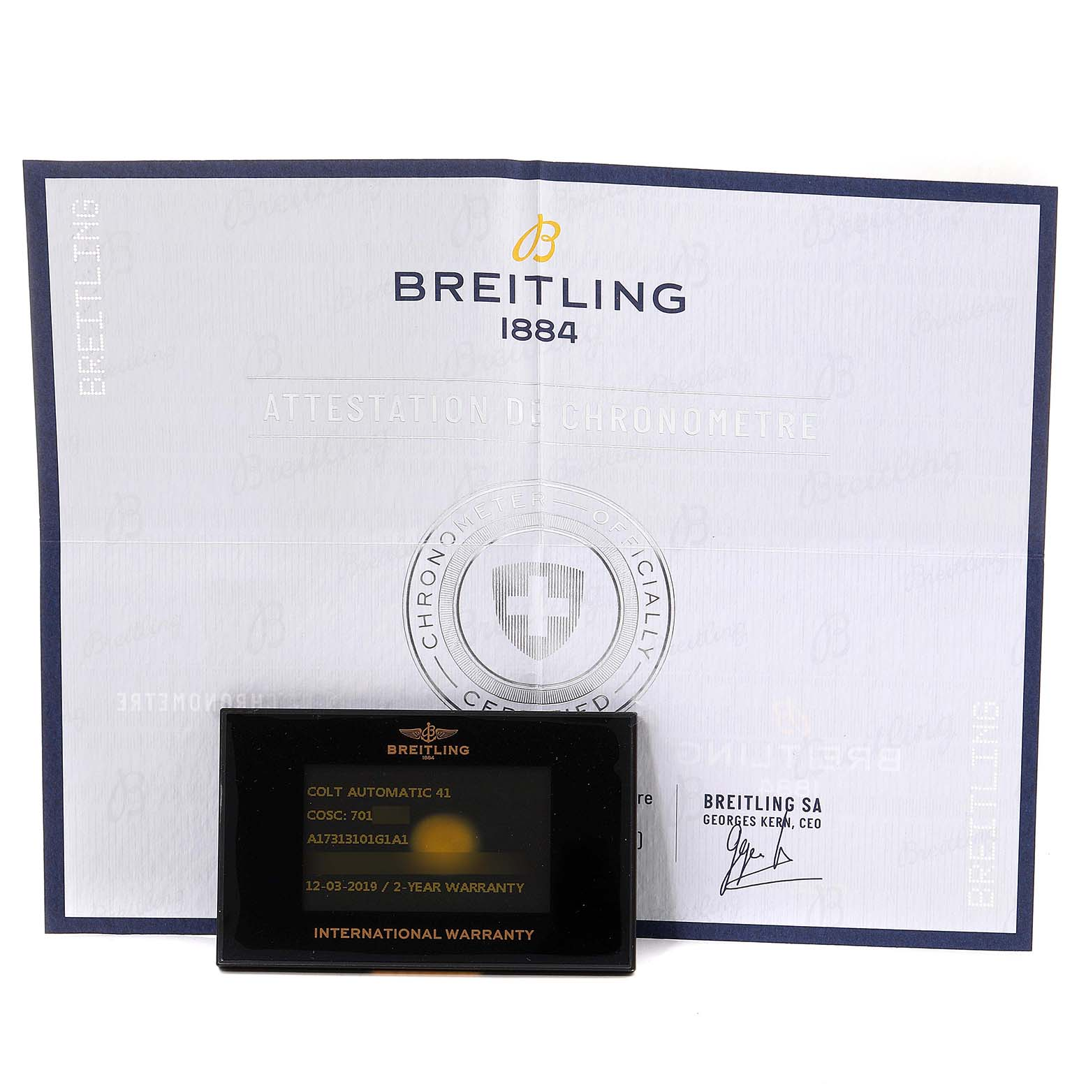 Breitling Colt White Dial Automatic Steel Mens Watch A17313 Box SwissWatchExpo