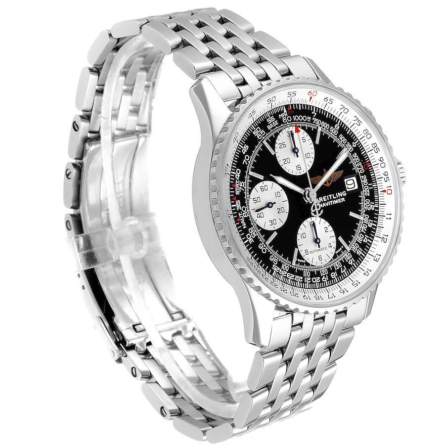 Breitling Navitimer II Black Dial Steel Mens Watch A13022 SwissWatchExpo