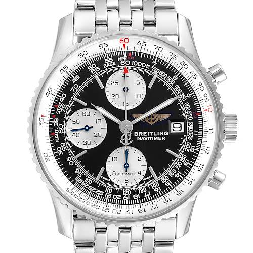 Photo of Breitling Navitimer II Black Dial Steel Mens Watch A13022