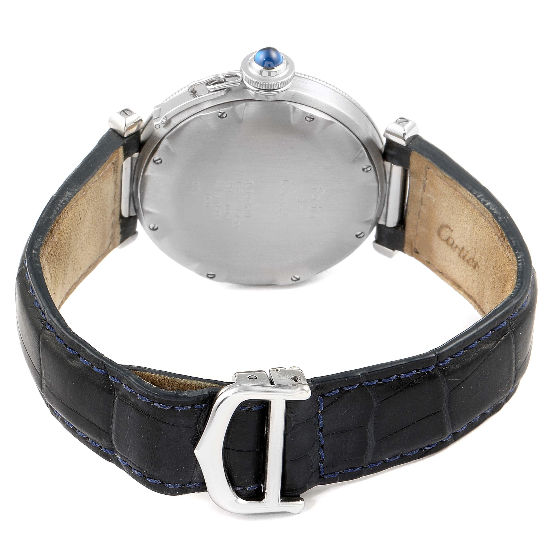 Cartier Pasha 38mm Gray Dial Steel Mens Watch W31017H3 SwissWatchExpo