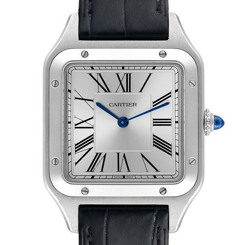 Photo of Cartier Santos Dumont Large Steel Mens Watch WSSA0022 Box Papers