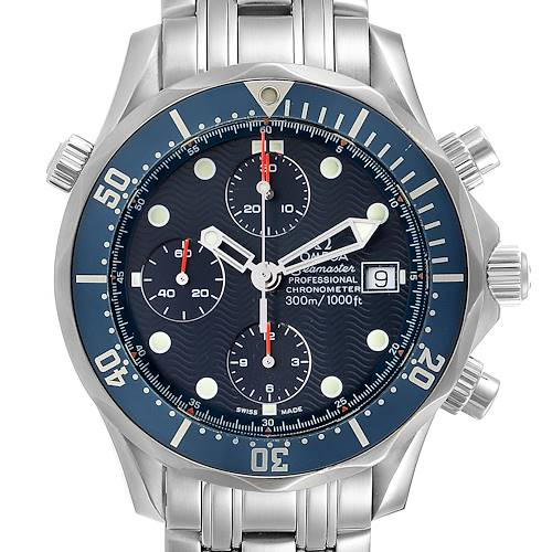 Photo of Omega Seamaster Bond Chrono Blue Wave Dial Mens Watch 2599.80.00
