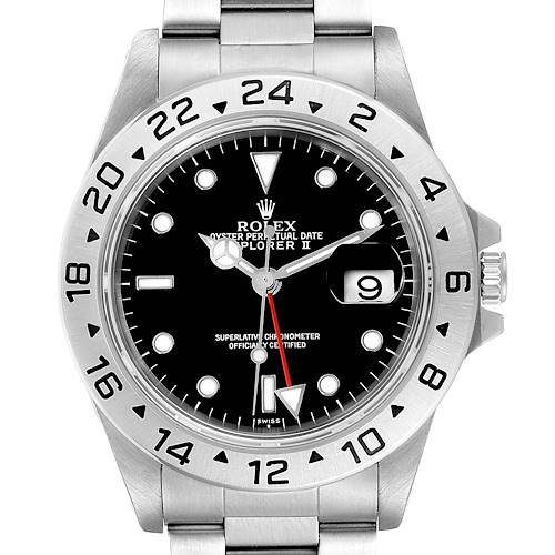 Photo of Rolex Explorer II Black Dial Automatic Steel Mens Watch 16570