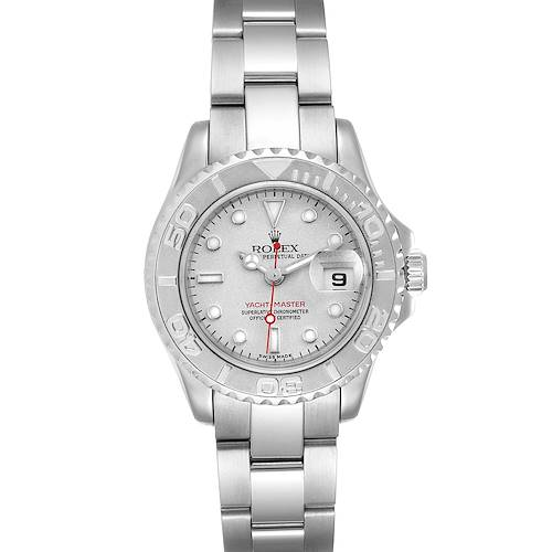 Photo of Rolex Yachtmaster 29 Steel Platinum Ladies Watch 169622 Box Papers