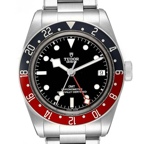 Photo of Tudor Heritage Black Bay GMT Pepsi Bezel Mens Watch 79830RB Box Paper