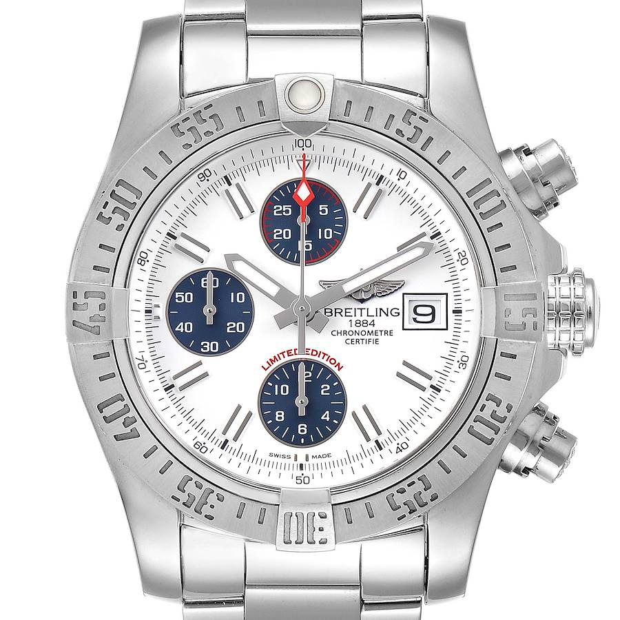 Breitling Super Avenger Mens Watch A13381 Box Papers SwissWatchExpo