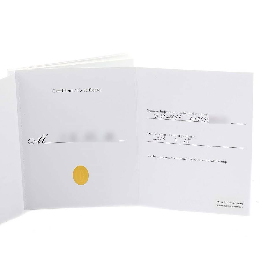 Cartier Ballon Bleu Chronograph Steel Mens Watch W6920076 Box Papers SwissWatchExpo