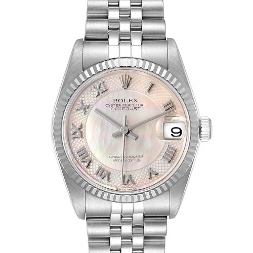 Photo of Rolex Datejust Midsize Steel White Gold Decorated MOP Dial Ladies Watch 78274