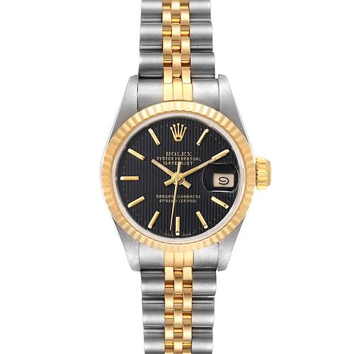 Photo of Rolex Datejust Steel Yellow Gold Black Dial Ladies Watch 69173 Box