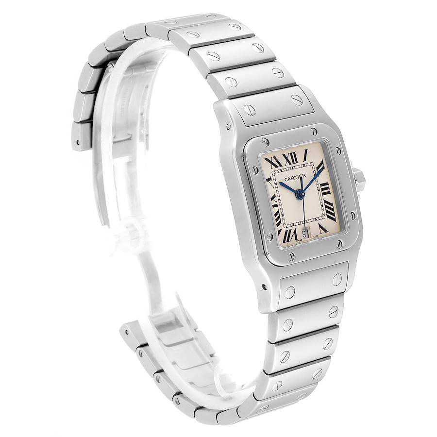 Cartier Santos Galbee Stainless Steel Unisex Watch W20060D6 SwissWatchExpo