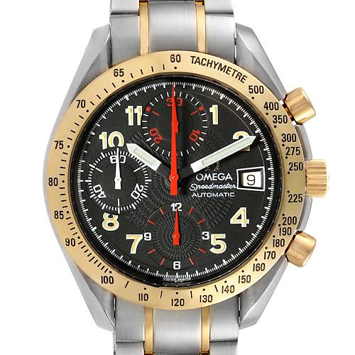 Photo of Omega Speedmaster Steel Yellow Gold Automatic Watch 3313.53.00 Box
