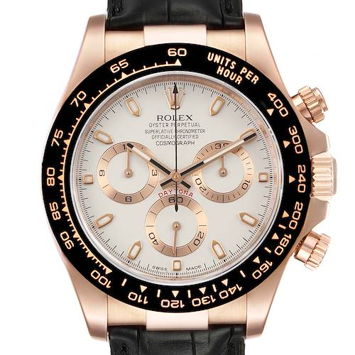 Photo of Rolex Cosmograph Daytona Rose Gold Everose Mens Watch 116515 Box Card