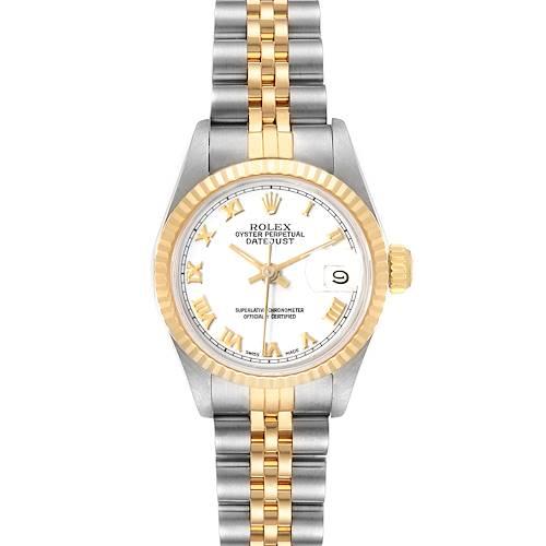 Photo of Rolex Datejust Steel Yellow Gold Fluted Bezel Ladies Watch 69173