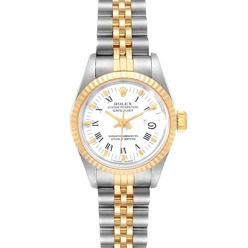 Photo of Rolex Datejust Steel Yellow Gold White Dial Ladies Watch 69173 Box