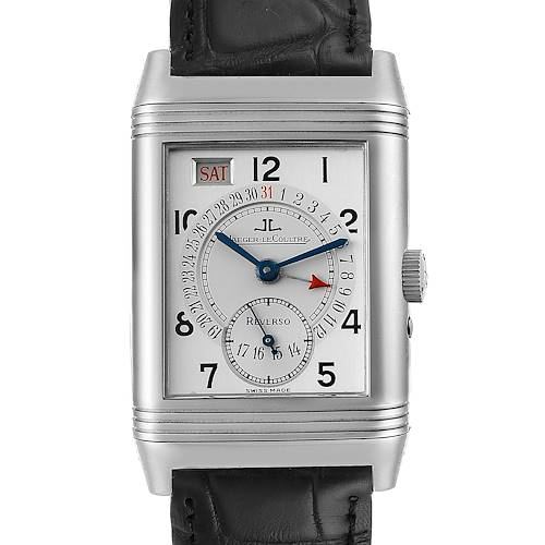 Photo of Jaeger LeCoultre Grande Reverso Day Date Mens Watch 270.8.36 Box Papers