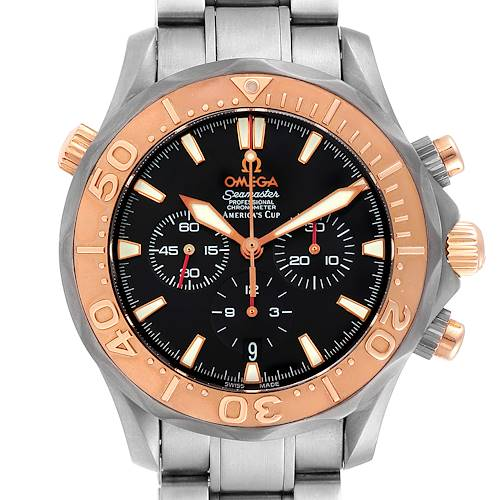 Photo of Omega Seamaster Americas Cup Titanium Rose Gold Mens Watch 2294.50.00