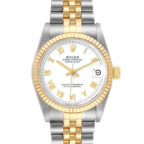 Photo of Rolex Datejust Midsize 31 White Dial Steel Yellow Gold Ladies Watch 68273
