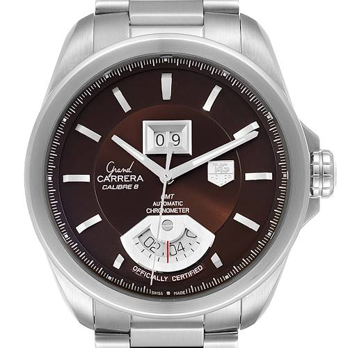 Photo of Tag Heuer Grand Carrera Grand Date GMT Brown Dial Mens Watch WAV5113