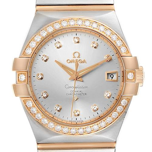 Photo of Omega Constellation Steel Rose Gold Diamond Mens Watch 123.25.35.20.52.001