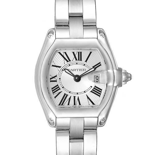 Photo of Cartier Roadster Silver Dial Small Model Steel Ladies Watch W62016V3 Box Papers
