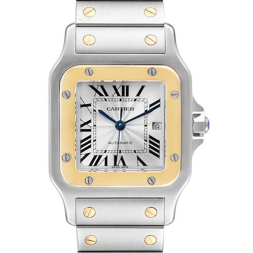 Photo of Cartier Santos Galbee Steel Yellow Gold Mens Watch W20058C4 Box
