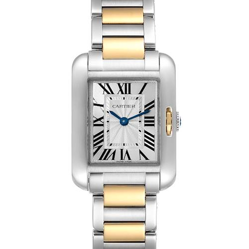 Photo of Cartier Tank Anglaise Small Steel Rose Gold Ladies Watch W5310019 Box Papers