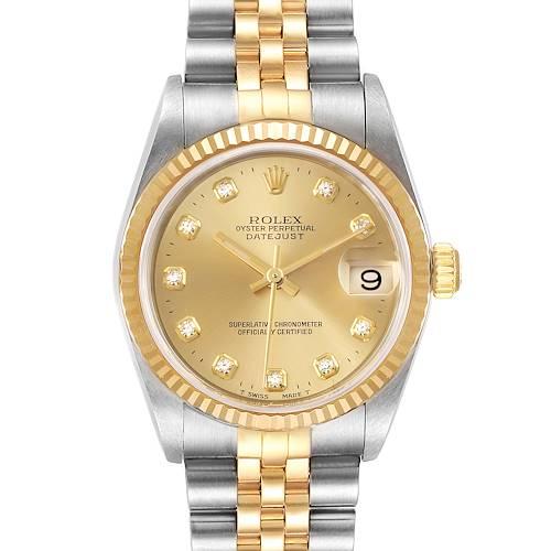 Photo of Rolex Datejust Midsize Steel Yellow Gold Diamond Ladies Watch 78273