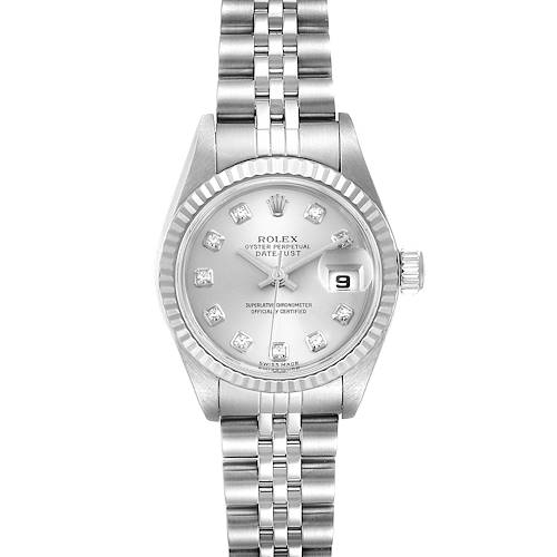 Photo of Rolex Datejust Steel White Gold Diamond Ladies Watch 79174 Box