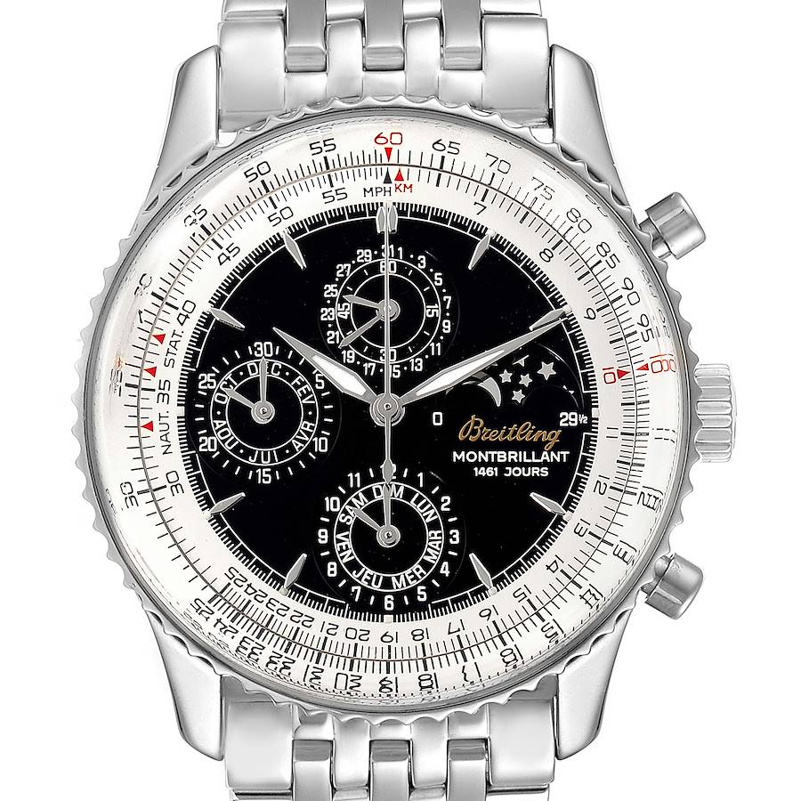 Breitling Navitimer Monbrillant 1461 Jours Moonphase Mens Watch A19030 SwissWatchExpo