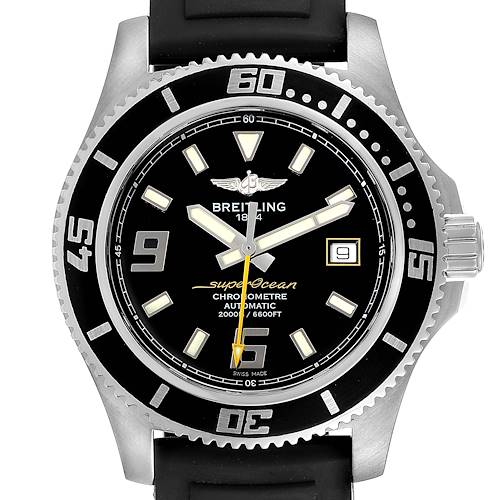 Photo of Breitling Aeromarine Superocean 44 Yellow Hand Watch A17391 Box