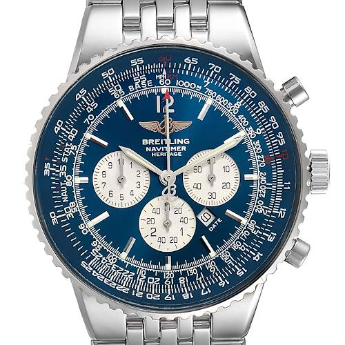 Photo of Breitling Navitimer Heritage Blue Dial Mens Watch A35350