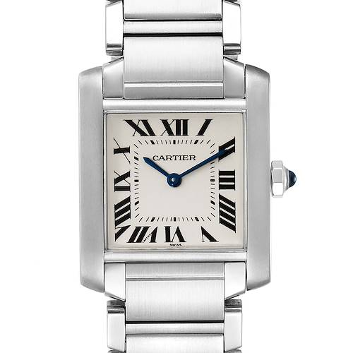 Photo of Cartier Tank Francaise Midsize Silver Dial Steel Ladies Watch WSTA0005 Box