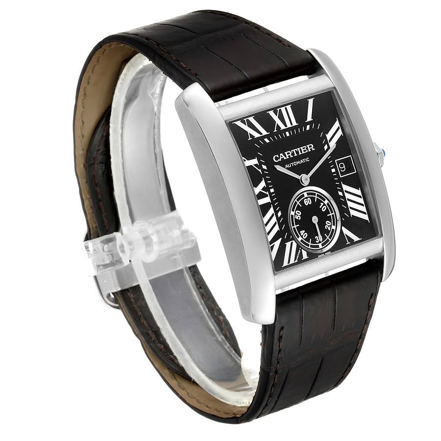 Cartier Tank MC Black Dial Automatic Mens Watch W5330004 Box SwissWatchExpo