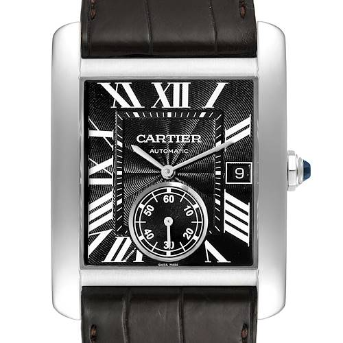 Photo of Cartier Tank MC Black Dial Automatic Mens Watch W5330004 Box