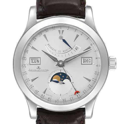 Photo of Jaeger Lecoultre Master Calendar Moonphase Mens Watch 147.8.41.S