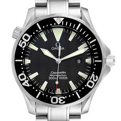 Photo of Omega Seamaster 41mm Black Dial Stainless Steel Mens Watch 2264.50.00