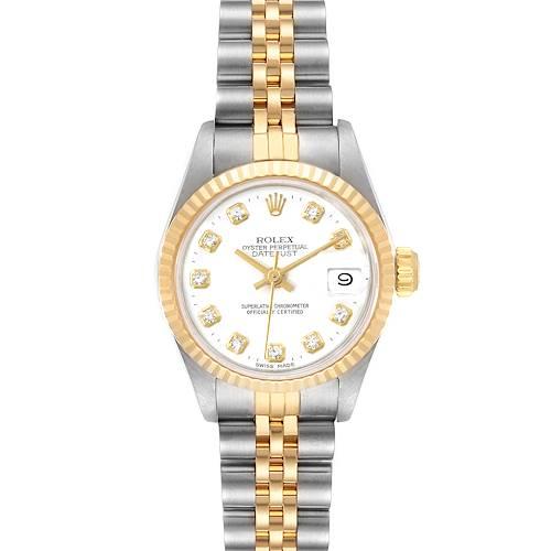 Photo of Rolex Datejust Steel Yellow Gold Diamond Dial Ladies Watch 69173 Box
