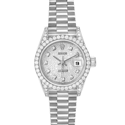 Photo of Rolex President Datejust White Gold Diamond Ladies Watch 69159 Box Papers