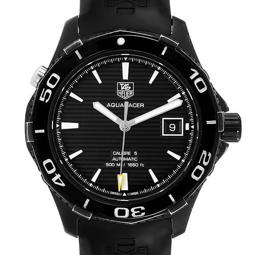 Photo of Tag Heuer Aquaracer 500 Black Dial Titanium Mens Watch WAK2180