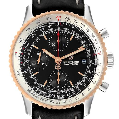 Photo of Breitling Navitimer 1 Chronograph 41 Steel Rose Gold Mens Watch U13324