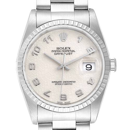 Photo of Rolex Datejust Anniversary Dial Oyster Bracelet Steel Mens Watch 16220