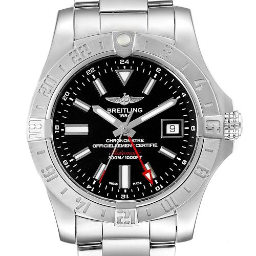 Photo of Breitling Aeromarine Avenger II GMT Black Dial Watch A32390 Box